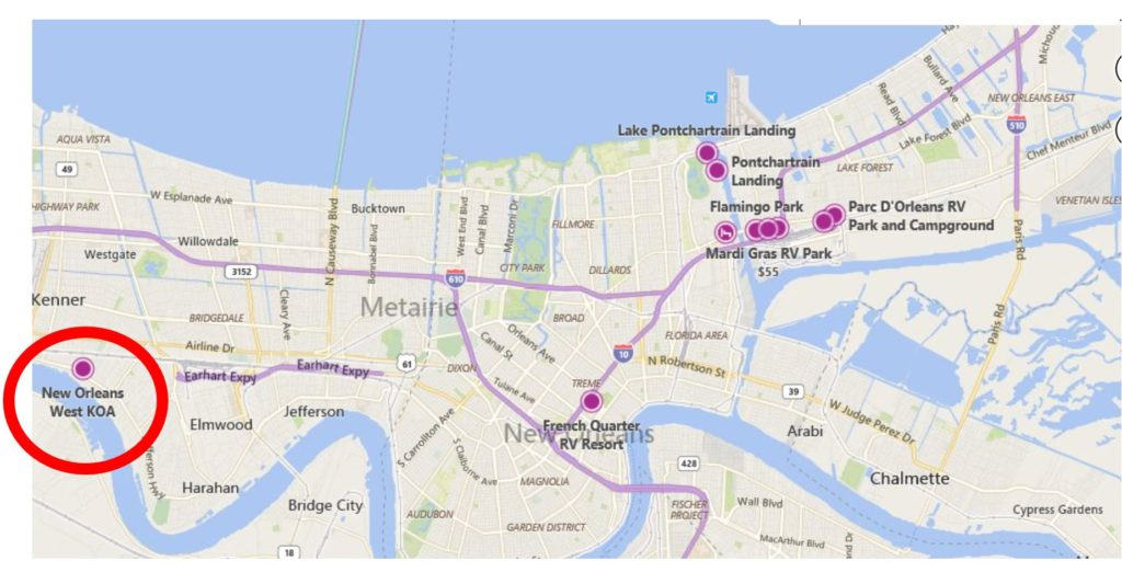 New Orleans RV parks